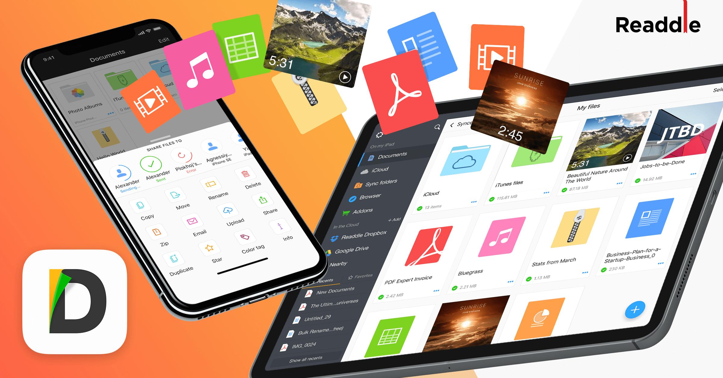 Documents App Brings FileDrop to Wirelessly Transfer Files